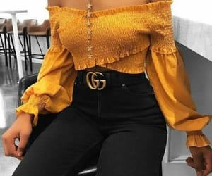 fashion, yellow, and gucci image