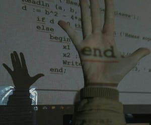 end, aesthetic, and hand image