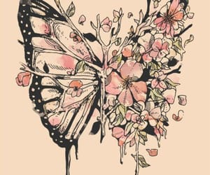 butterfly, illustration, and tattoo idea image