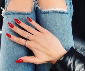 nails, red, and indie image