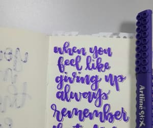 calligraphy, handlettering, and thought image