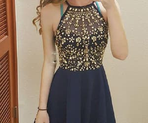 prom dresses short, prom dresses v-neck, and v neck homecoming dresses image