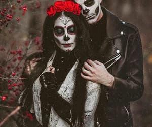 calavera, costume, and couple image