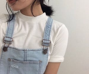 aesthetic, blue, and outfit image