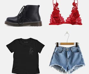 boots, cut offs, and kiss image