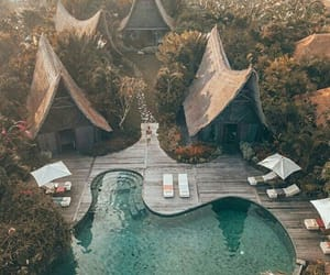 bali, luxury, and pool image