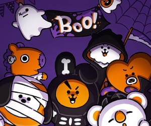 bts, bt21, and Halloween image
