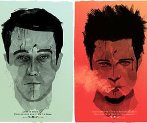 90's, edward norton, and fight club image