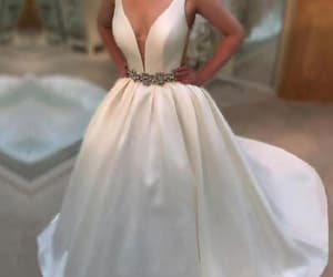 prom dress, wedding dress, and white prom dresses image