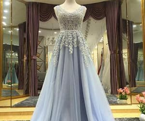 blue prom dresses, prom dresses long, and appliques prom dresses image