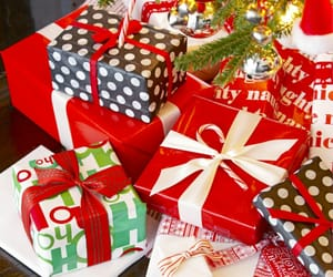 christmas tree and gifts image