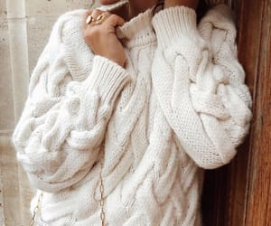 cable knit, sweater, and classic bag image