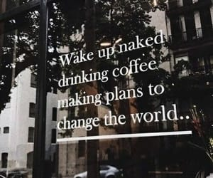 change, plans, and coffe shop image