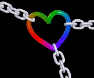 +, chain, and rainbow image
