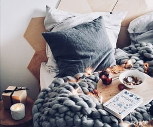 bed, cozy, and tumblr image