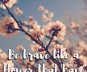 be brave, flowers, and braver image