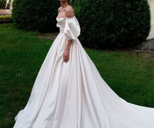 day, happy, and wedding dress image