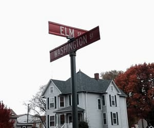 fall, streets, and elm street image