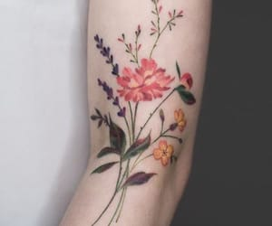 flower tattoo, tattoo, and Tattoos image