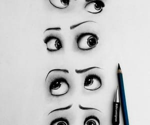 art, yeux, and artistic image