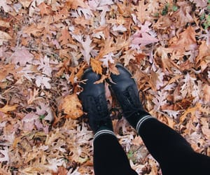 autumn, black, and boots image