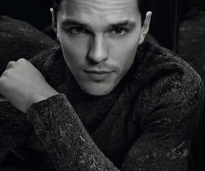 black & white and nicholas hoult image