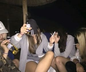 drinking, girls, and friends image