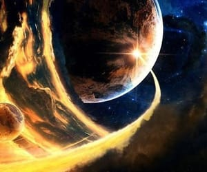 planet and stars image