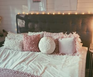 autum, bed, and bedroom image