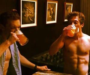 beer, behind the scenes, and cute guys image