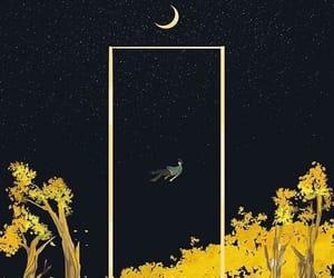 moon, wallpaper, and yellow image