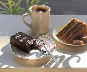 cake, coffee, and delicious image