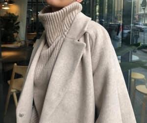 coat, fashion, and sweater image