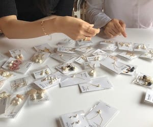 accessories, earrings, and white image