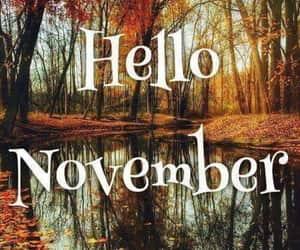 autumn, november, and hello november image