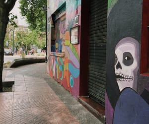 chile, santiago, and skull image