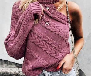 fashion, knitted, and sweater image