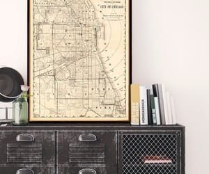 canvas print, print, and old map image
