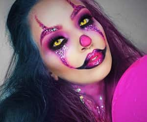 clown, Halloween, and makeup image