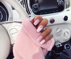 pink, fashion, and nail art image