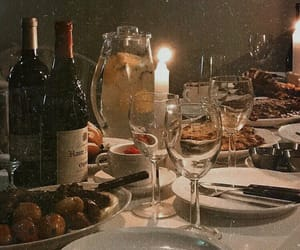 aesthetic, dinner, and wine image