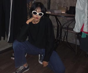 asian, denim, and fashion image
