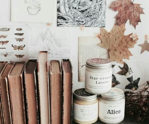 autumn, books, and drawings image
