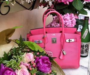 bag, hermes, and pink image