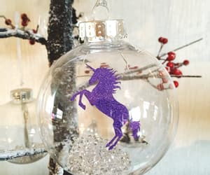 bauble, christmas, and glitter image