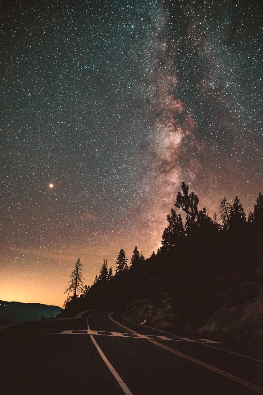 nature, stars, and sky image