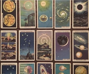 planets, art, and cards image
