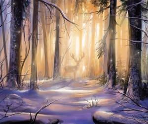 beautiful, christmas, and deer image