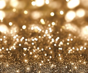 christmas, gold, and sparkle image