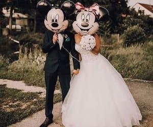 wedding, disney, and dress image